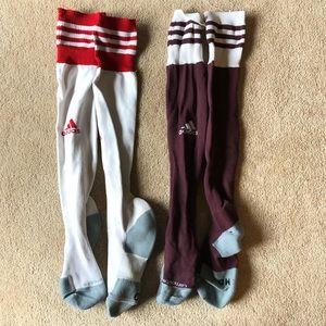 adidas soccer socks (2 pack!)
